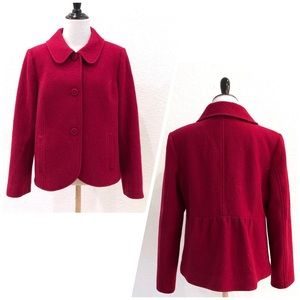 Pendleton Red Wool Button Down Retro Jacket Blazer